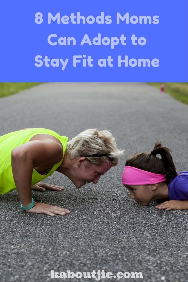 Staying fit as a busy mom takes a bit of planning, foresight and at times a bit of creativity! Here are 8 methods moms can adopt to stay fit at home.  #FitMoms #getFit #GetHealthy #LoseWeight #WeightLossForWomen