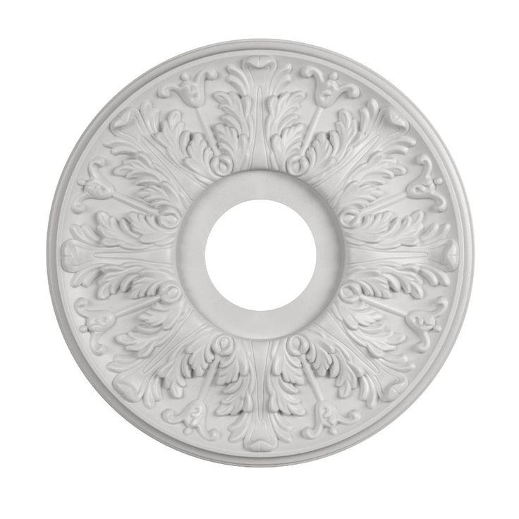 Shop Portfolio White Medallion at Lowes.com   Ceiling fan ...