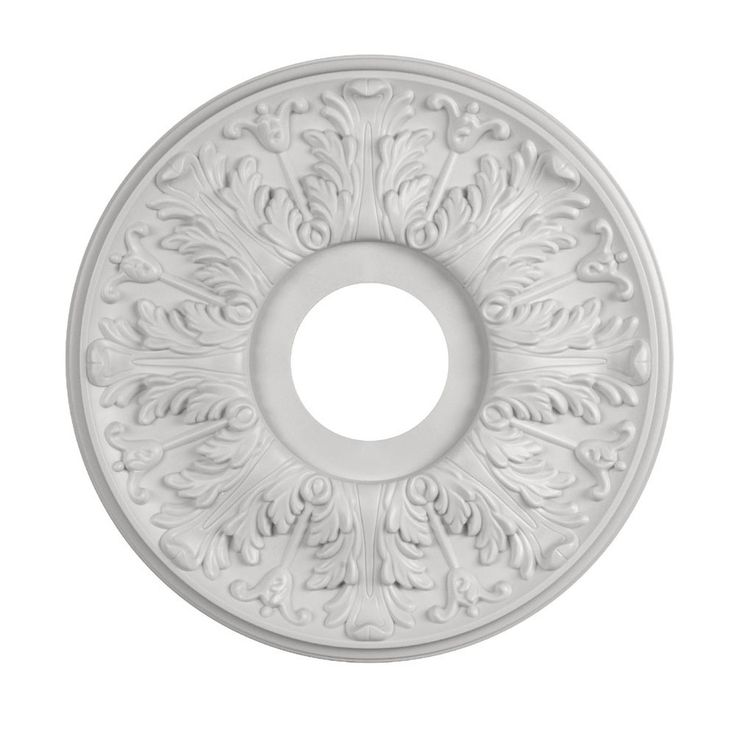 Shop Portfolio White Medallion At Lowes Com Ceiling Medallions Cheap Ceiling Fans White