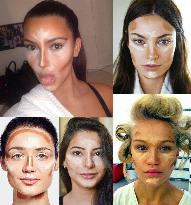 Depois que Kim Kardashian postou uma foto no Instagram com o rosto todo marcado por tons claros e escuros (só ver na montagem abaixo), o truque de contorno facial usando maquiagem parece ter se popularizado.…Continue Reading…