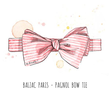 Balzac Paris bow tie - Illustration by Armelle Tissier