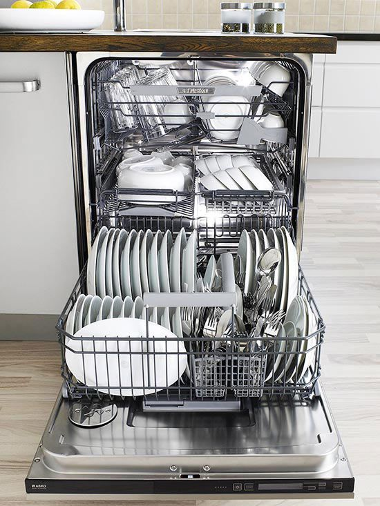 Find out how you can start loading your dishwasher the right way today! Start by giving all dishes a quick rinse. Collect silverware and utensils in a colander (for easy rinsing) and then load the silverware basket. Place glasses on the top, and plates and bowls on the bottom of the dishwasher. Check out the rest of these tips and tricks to get perfectly washed dishes every time!