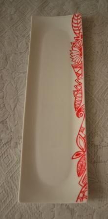 Hand painted Sushi plateSushi Ceramic, Ceramics Sculpture