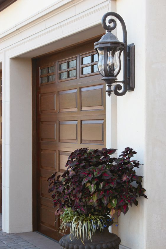 @Clopay Doors | Residential Garage Doors and Entry Doors | Commercial Doors Classic Wood Collection Short Raised Panel Garage Doors with Short Stockton Glass