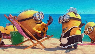When you're chillin' on vacation and don't have any worries: | 23 Times Minions Perfectly Captured Your Life