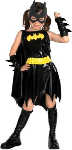 Kids Batgirl Costume Kids Superhero Costume Kid Halloween Costumes Medium NEW #Rubies