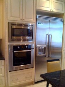 Exceptional Kitchen, Beautiful Looks Of Wall Microwave Plus Big Refrigerator With  Sparkling Cover: Set Your Goal In Choosing Small Kitchen Appliances Part 23