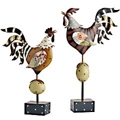 Patchwork Roosters from Pier1. On clearance for $29.98 right now.