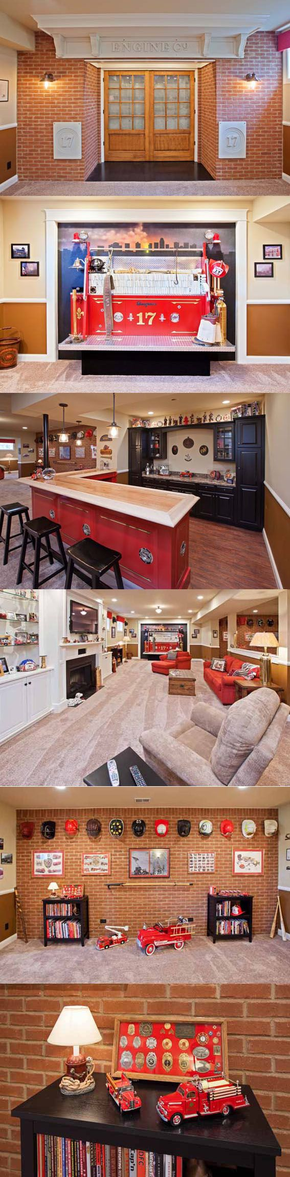 A Retired Firefighter's Basement Man Cave   Shared by LION