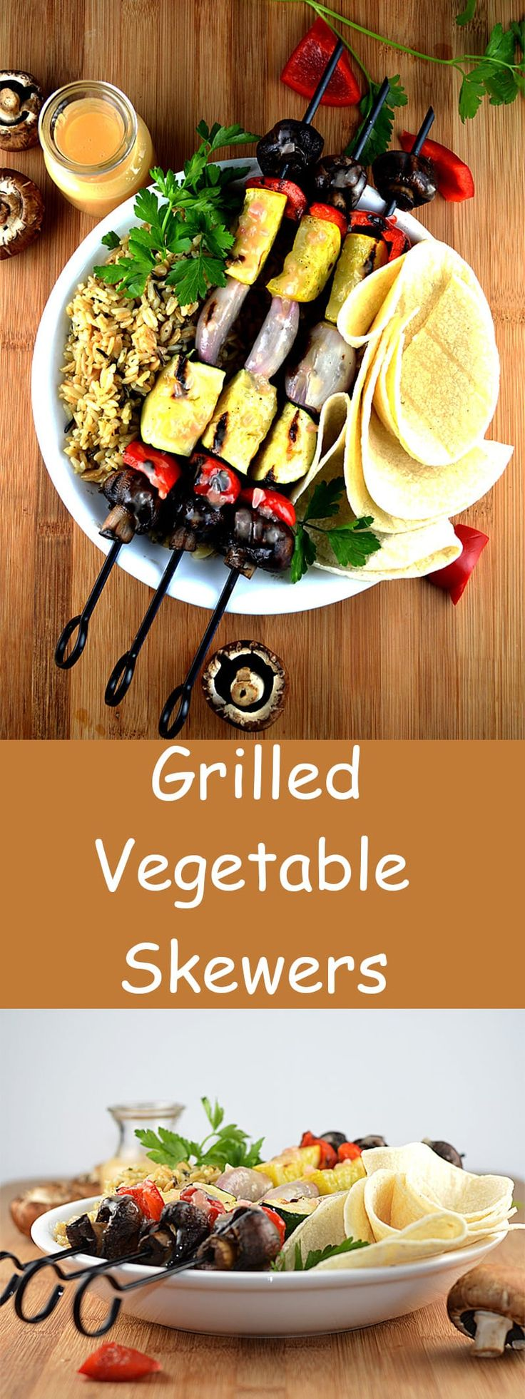 Grilled Vegetable Skewers with VEGAN Beurre Blanc Sauce by The Veg Life!