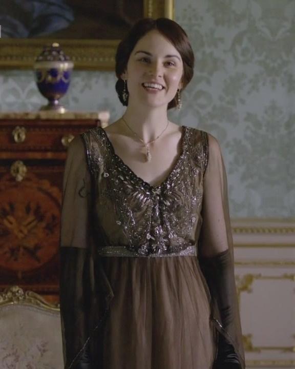 Downton Abbey, Lady Mary lovely beading on dress.