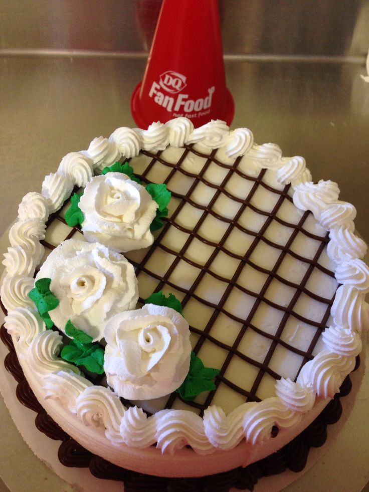 This simple and elegant DAIRY QUEEN Cake design would be a delicious treat at…