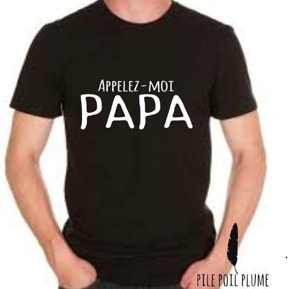 t -shirt appelez moi papa annonce de grossesse