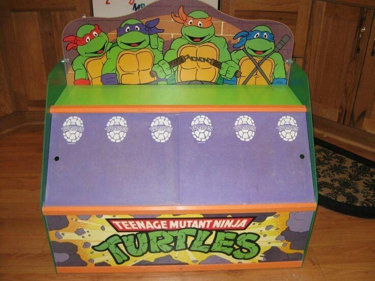 Vintage1985 teenage mutant ninja turtle toy box