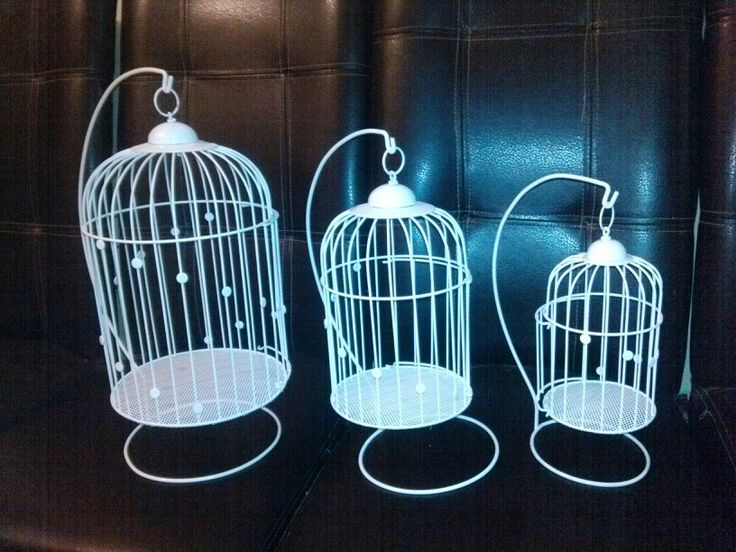 Hermosas jaulas decorativas. Disponibles en 3 tamaños