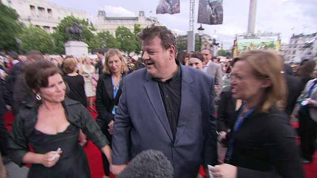 Robbie Coltrane, Imelda Staunton at the Harry Potter and the Deathly Hallows Part Two World Premiere at London England.