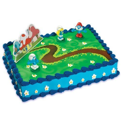 This is available at the local Giant's Grocery Store ...Smurfs Cake Kit by A Birthday Place, http://www.amazon.com/dp/B003J196CU/ref=cm_sw_r_pi_dp_y.Masb0VV4X28