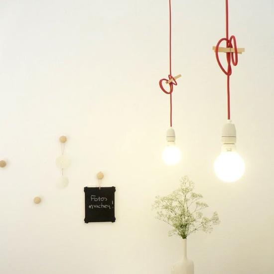 6 ideas iluminaci n c mo colgar lamparas de cable textil - Lamparas de colgar ...