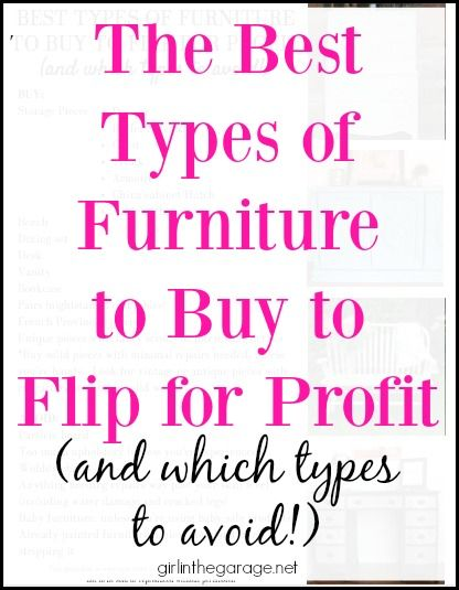 The Best Types of Furniture to Buy to Flip for Profit (and which types to avoid!)