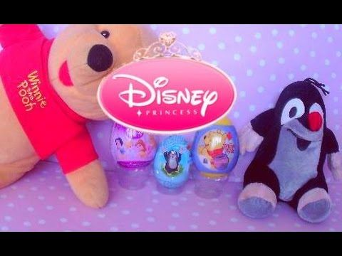 Surprise eggs unboxing winnie the pooh disney princess little mole
