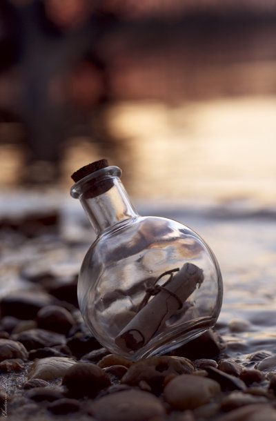 dollshousedropin:    Message In The Bottle by *Spademm    Imagine coming upon this on a stroll.