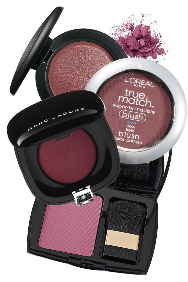 Plum blushes are to medium and dark skin tones what pink blushes are traditionally to fair complexions