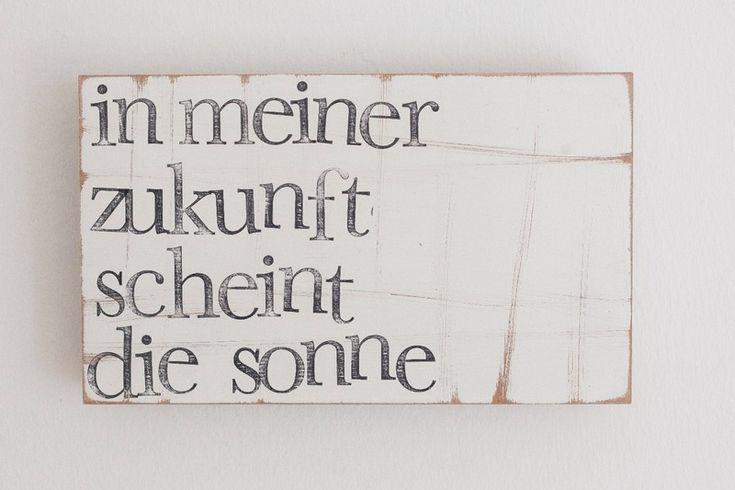 """Kunst - Geschenk Textplatte """" in meiner Zukunft"""" - ein Designerstück von iopla bei DaWanda"""