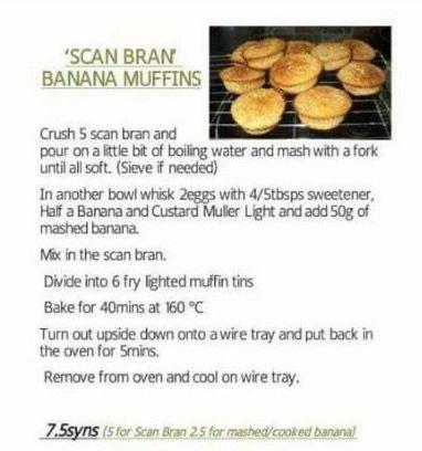 Scan bran banana muffins