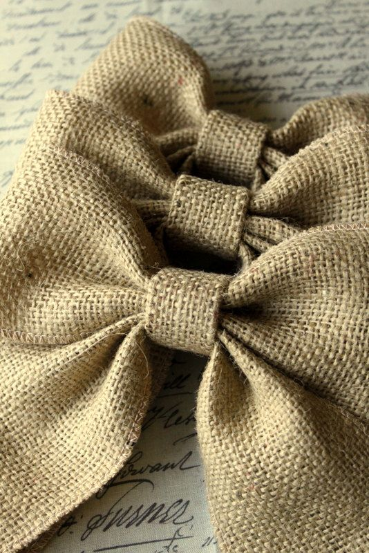 3 Burlap bows, Farmhouse, shabby chic, rustic, weddings, curtain tie back, home decor