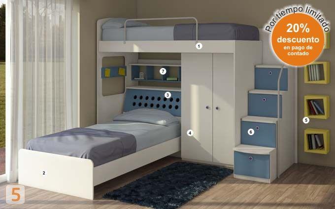 M s de 1000 ideas sobre camas cuchetas en pinterest - Habitaciones infantiles marineras ...