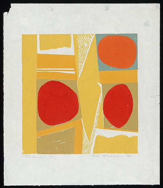Incorporation, Experimentation, and Outreach - Creative Space: Fifty Years of Robert Blackburn's Printmaking Workshop | Exhibitions - Librar... -- Robert Blackburn, Red Inside, 1972. Woodcut.