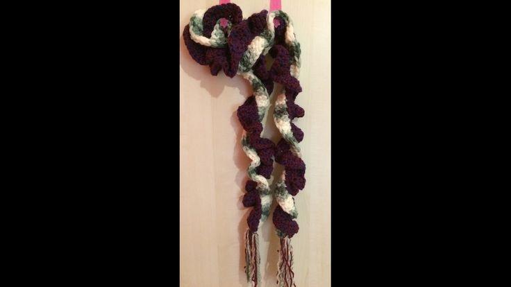 Πλεχτο κασκολ - φουλαρι γιρλαντα με βελονακι - VERY EASY curl scarf with...