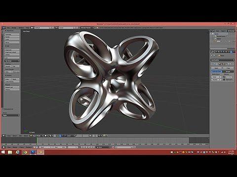 Model A Octo-Star Math Sculpture In Blender 2.75
