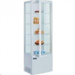 Moderna vitrina frigorífica con puerta de vidrio curvada. Desescarche automático. Sin CFC. http://www.ilvo.es/es/product/vitrina-frigorifica-vertical-grande