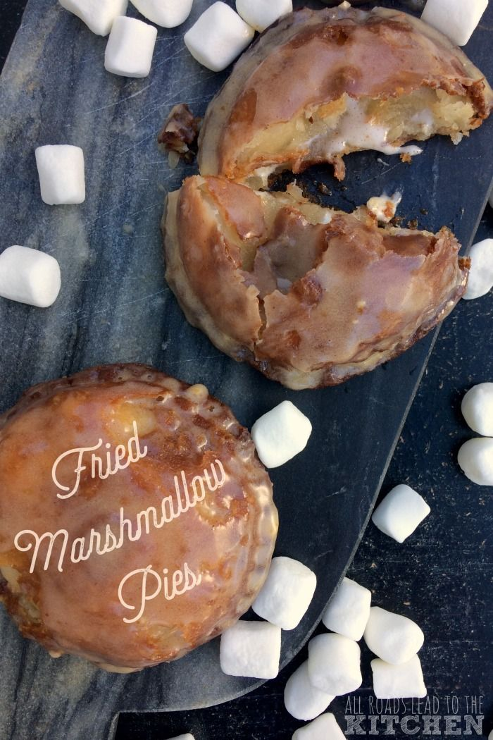 Gooey melted marshmallows are enclosed in this flaky, fried crust and covered in glaze.