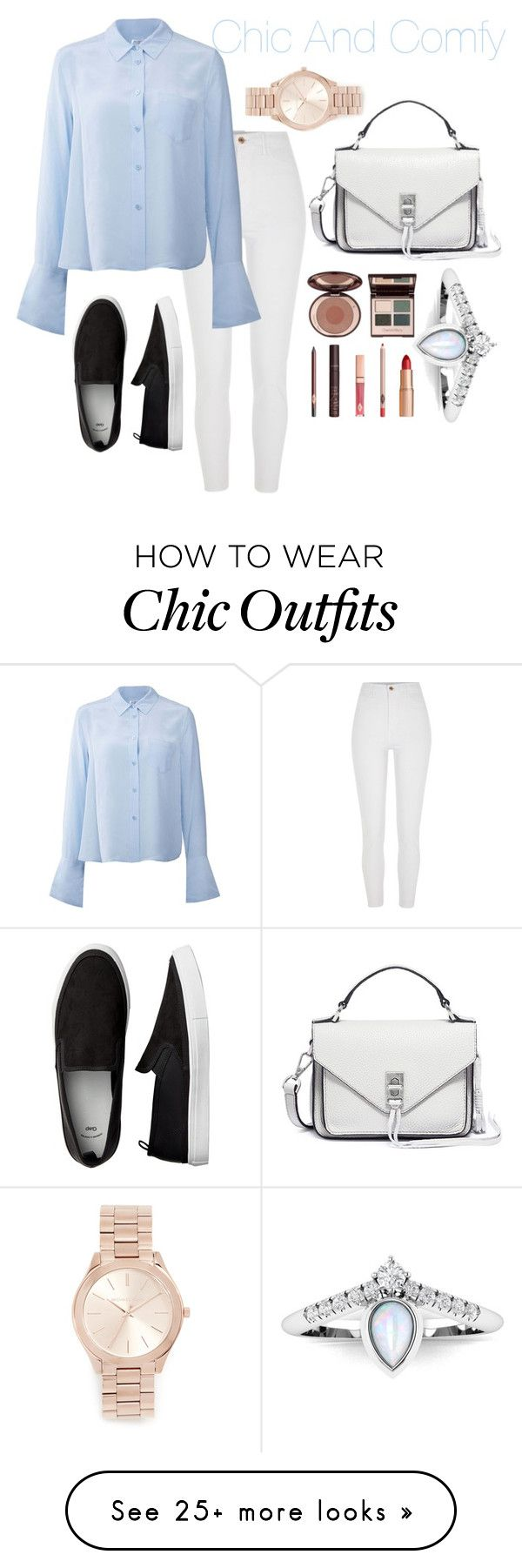 """""""Chic But Comfy"""" by zumretemts on Polyvore featuring Equipment, Michael Kors, Rebecca Minkoff and Charlotte Tilbury"""