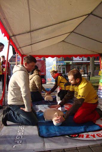 Na jednym ze szkoleń, zorganizowaliśmy naukę pierwszej pomocy w Kwidzynie.