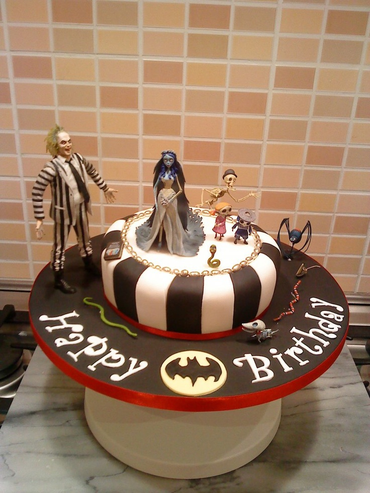 tim burton and batman!!!!! yes please! Cake, Types of