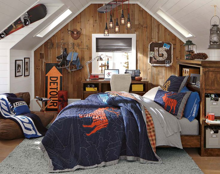 Burton themed snowboard room from pbteen