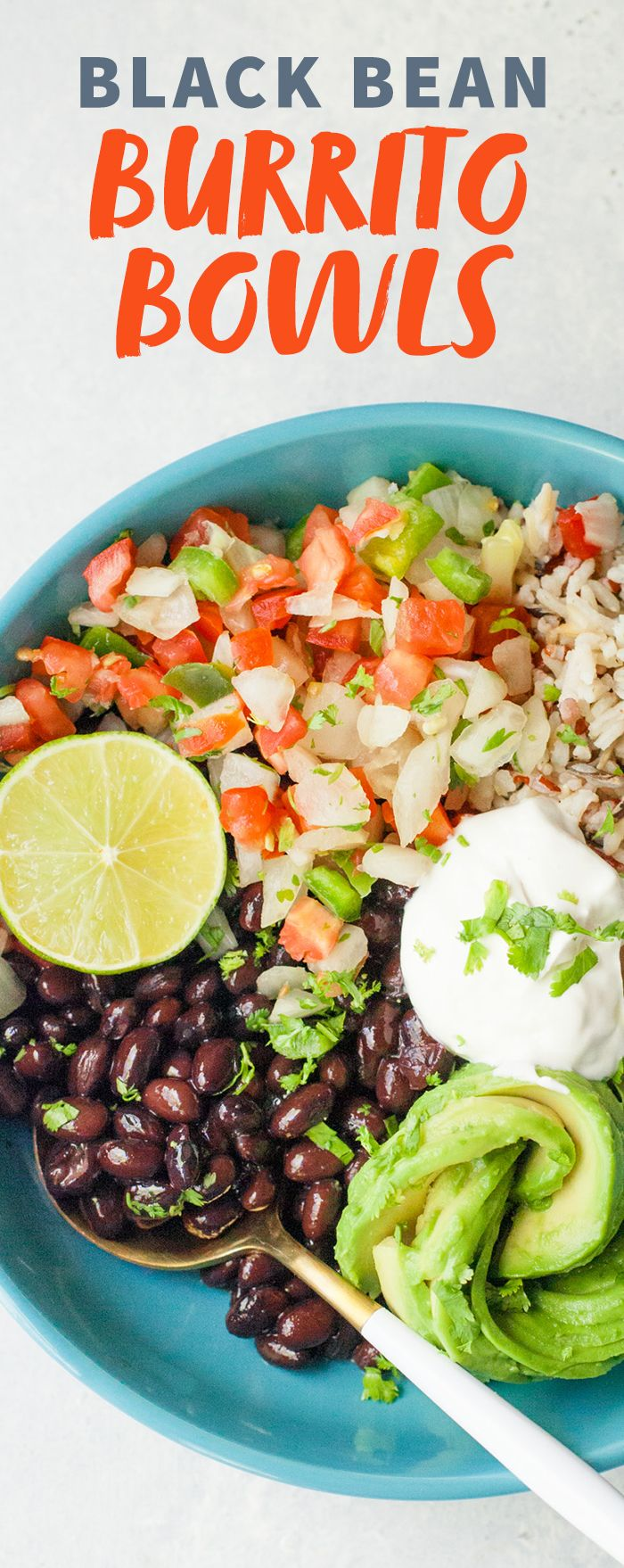 Black Bean Burrito Bowls: perfect for lunch or a healthy dinner option!