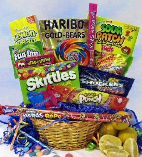 149 best gift basket fun images on pinterest gift ideas pucker power candy gift basket negle Images