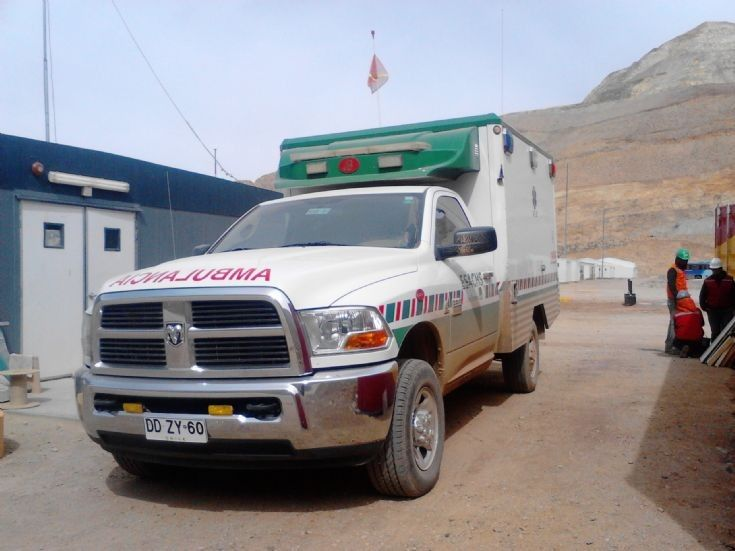 Ambulance RAM in Proyecto Caserones SCM Minera Lumina Copper Chile
