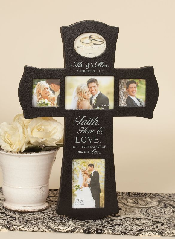faith hope love cross collage photo frame for wedding pics