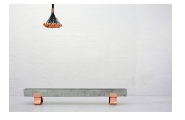 Copper & Steel Bench at WIID Design