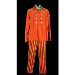 "Mike Myers ""Austin Powers""  swinging 60's blood-orange outfit from Austin Powers:  The Spy Who Shagged Me. (New Line Cinema, 1999) (Sold for over 13 thousand dollars at the Debbie Reynolds Auction 6/18/2011)"