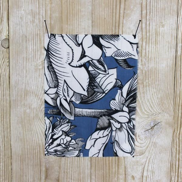 Grecian Floral Silk/Cotton - Blue