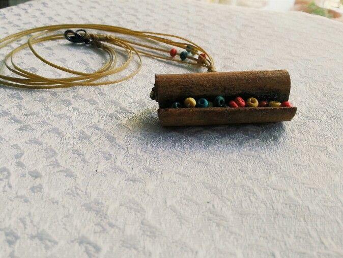 Handmade  / cinnamon  / jewerly  Çubuk  tarçindan  en orjinal kolyeler 28$