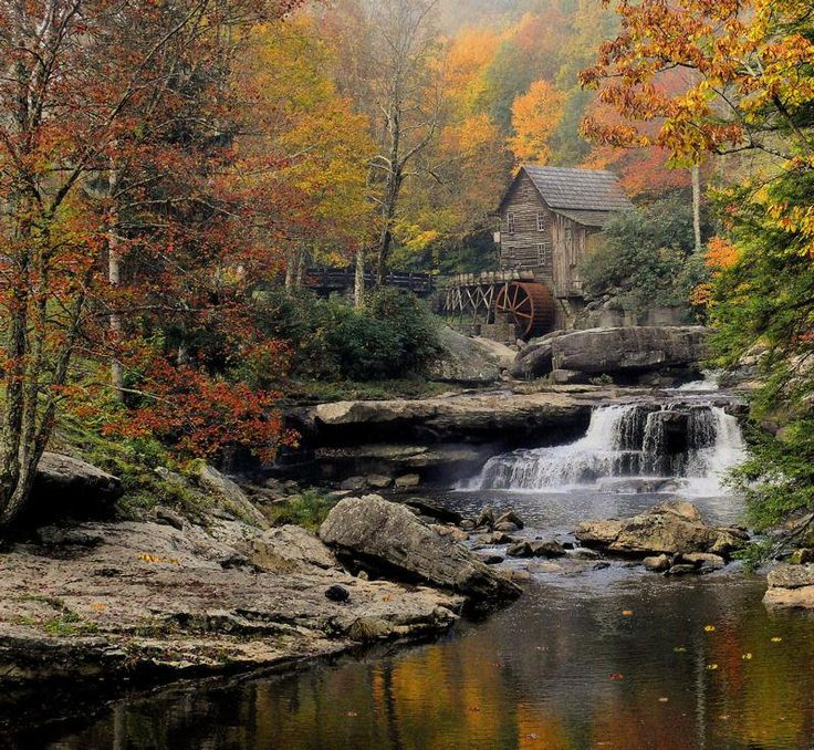 Glade Creek Grist Mill Babcock State Park West Virginia By William Griffin Water Mills