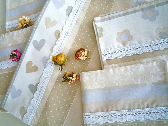 Beige Cream Placemats Handmade Kitchen Decor by LavenderVanille