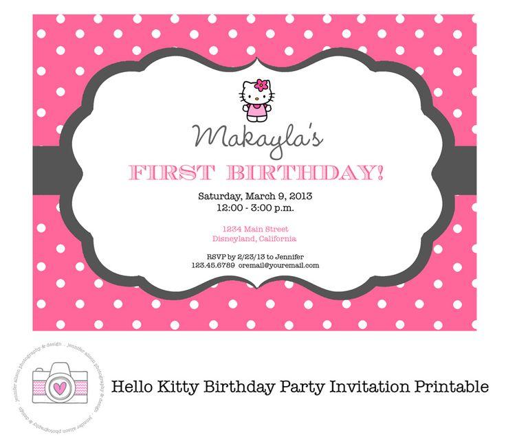 Hello Kitty Printable Invitation PERSONALIZED / Birthday